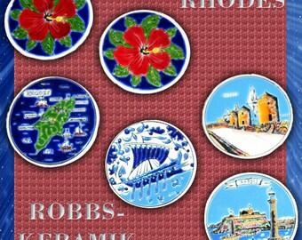 Robbs-Keramik (Ceramic) Coasters, set of Six.