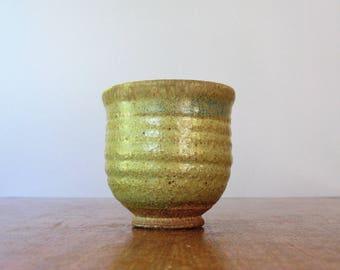 Vintage Christopher Robin Ceramic Studio Bowl / Vase / Cup Wabi Sabi Handmade California Pottery