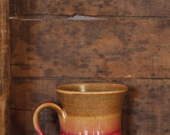 Mug in Cranberry Sienna by Village Pottery Prince Edward Island PEI