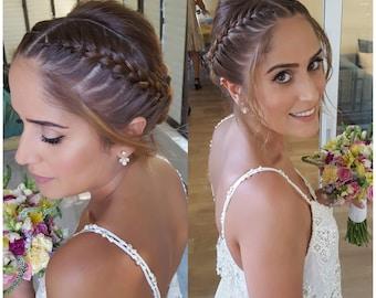 Ear Jacket Earring, Weddings Ear Jackets, minimalist Ear Cuffs, Geometric Jacket Earring, Bridal Ear Jacket, Trendy Jewelry, Gold Ear Jacket