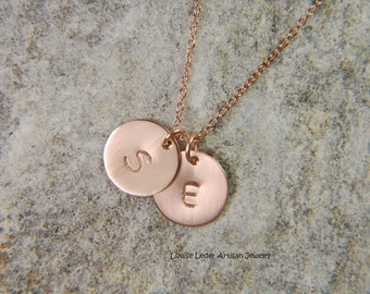 Rose Gold Necklace 10 mm Mommy Necklace Personalized Gold Necklace Rose Gold Push Present 14K Gold Necklace