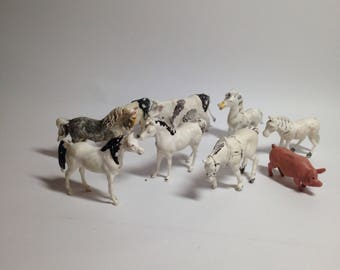 Vintage toy farm animals collection