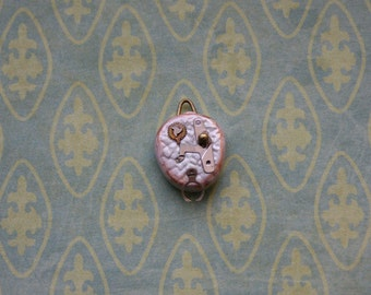 "Polymer Clay Steampunk ""Iced"" Pendant for Dollfie BJD MSD"