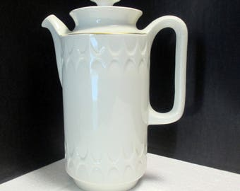 Mayer China - Sculptura White with Auric Gold Line - Restaurant Ware - Coffee Pot
