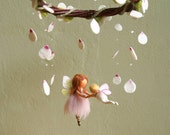"""Custom order for Ofelia - Mobile """"A ballet scene with two fairies"""" - Waldorf inspired, needle felted, by Naturechild"""
