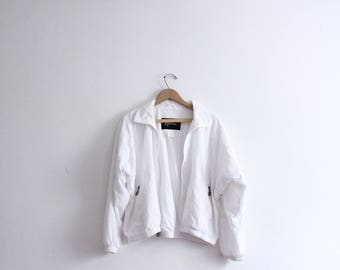 RESERVED for Moa////////////Minimal White 90s Sporty Jacket