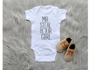 Mr. Steal Your Girl One Piece Baby Bodysuit