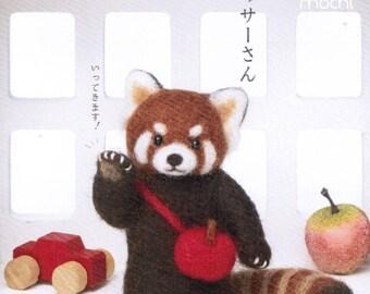 Raccoon loves Apples Needle Felting Kit