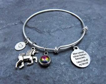 Unicorn Lover - Unicorn Charm Bracelet - Unicorn Jewelry - Fantasy Jewelry - Rainbow - Magical Unicorn - Unicorn Bachelorette - Unicorn Gift