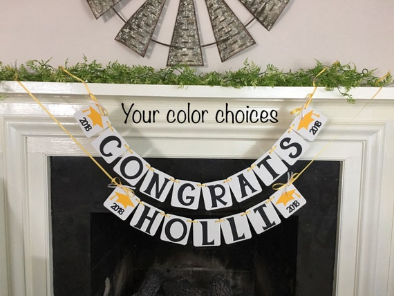 graduation party decorations congrats personalized name banner class