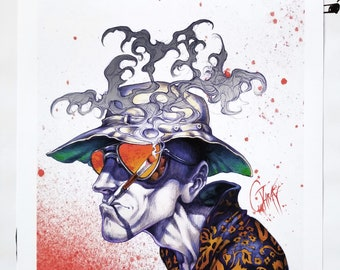 Gonzo - Fear and Loathing Giclee Art Print by Ghray -