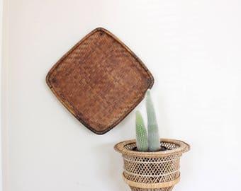 Extra Large Wall Basket Woven Wall Basket Tray Decorative Basket Boho Home Decor