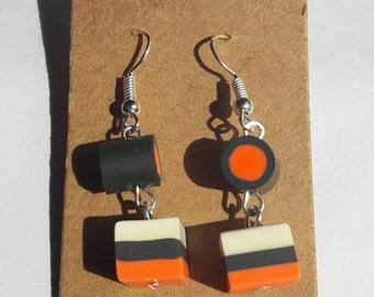 Handmade fimo liquorice earrings