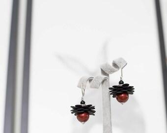 Dangle earrings, Women's earrings, Red earrings