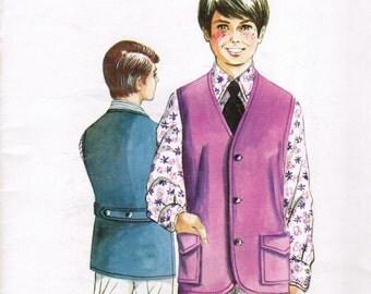 Kwik Sew 341 Copyright 1971 Boys Vest