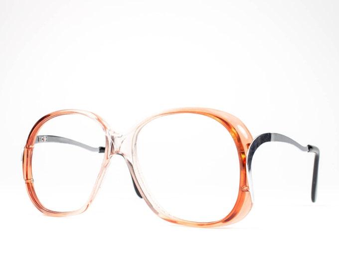70s Glasses | 1970s Vintage Eyeglasses | Oversized Glasses Frames | Eighties Deadstock Eyewear - Winnie 1