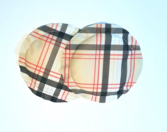 Nursing Pads, Breastpads, Breastfeeding, No Show, Heavy Absorbency, New Mom Gift, Plaid, Argyle -See My Shop for More Prints