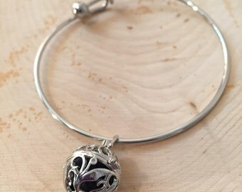 Lava Rock Diffuser Locket Bracelet