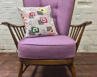 SOLD*******High Back, Ercol Arm Chair Available for Bespoke Upholstery