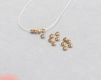 100Pcs, 4mm Raw Brass Saucer Beads , Hole Size 2mm , SJP-A197
