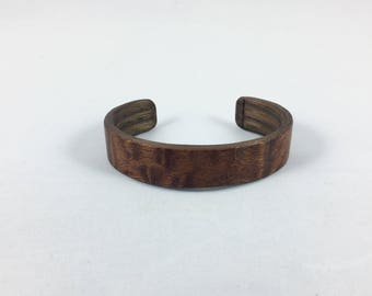 Womans christmas gift, womans cuff bracelet, wood cuff bracelet, wood bangle, gift for her, anniversary gift, woman gift, jewelry - Sapele