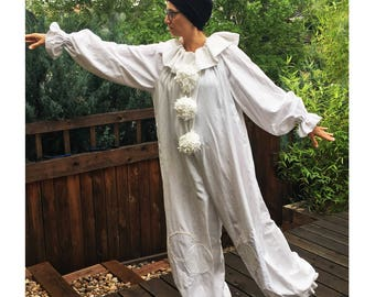 Ready to Ship: Pierrot Clown Costume Adult, Large