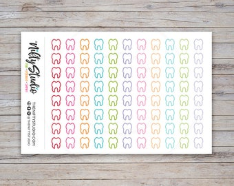 Dentist Stickers, Planner Stickers, Appointment, Tooth Fairy, agenda, calendar | The Nifty Studio [118]