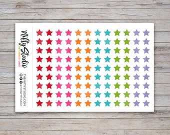 Stars Stickers | Color Coding Stickers | Planner Stickers | The Nifty Studio [164]
