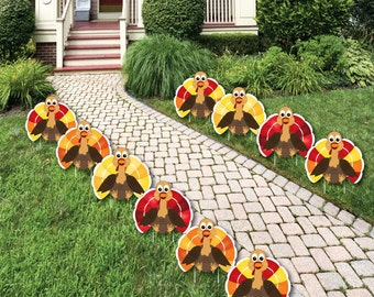 Thanksgiving Turkey Shaped Lawn Decorations - Outdoor Thanksgiving Yard  Decor - Thanksgiving Party Lawn Ornaments -