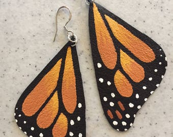hand made monarch earrings