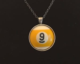 """Necklace - # 9 Pool Ball  (16""""-24"""")"""