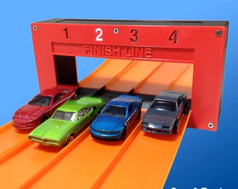 4-Lane Electronic Finish Line Gate (Compatible with Hot Wheels Race Track & Cars)