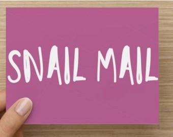 Snail Mail Stationary Cards | Notecards | Front & Back | Envelopes Included