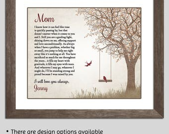 Gift For Mom - Mom Gift Mother Daughter Gift - Christmas Gift For Mom - Mother Poem - Mother Thank You - Gift For Mother - Mom Birthday Gift