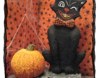 Black Cat with Pumpkin #2