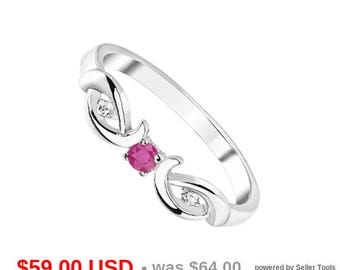 Ruby Ring Ruby Engagement Ring Ruby Promise Ring for Her Ruby Wedding Ring July Birthstone Ring Twist Ring Dainty Ring Delicate Ring CZ Ring