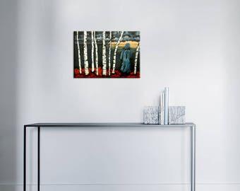 Acrylic paint - stormy sky