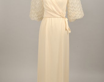 1970 Pin Tucked Vintage Wedding Gown