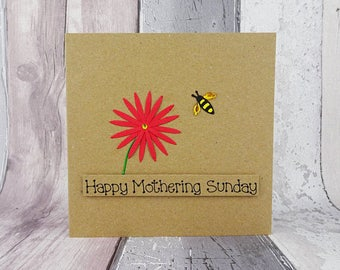 Mother's Day Card, Bee and flower card, Bee card for Mum, Mothering Sunday card, Mother's Day card with pun, Birthday card for Mum / Mom