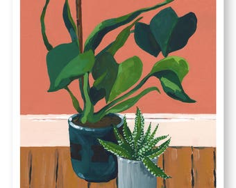 Philodendron Painting Giclée Print