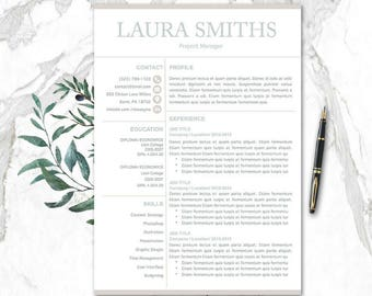Modern CV Template Pages Mac PC | CV Templates | Resume Template Pages | 1