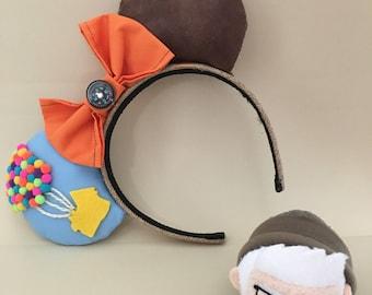 UP! Mouse Ears | Fabric Ears | Disney Film Inspired Ears | Pixar Ears