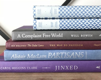 Purples and Blues Hardcover Book Collection
