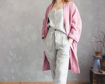 LINEN PANTS / loose linen pants / linen trousers/ pants for women/ summer pants