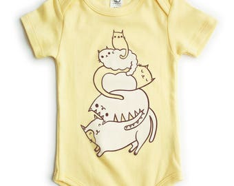 Organic Baby Clothes Organic Baby Shower Gift Cat Baby Clothes Organic Baby Clothing Cat Baby One Piece Cat Baby Clothing veterinarian baby