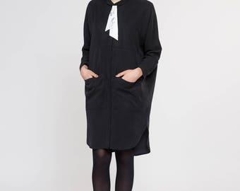 NEW Shirt Dress. Loose Maxi Minimal Shirt Dress. Fall Fashion Long Sleeved Women Shirt. Relax Oversized Boxy Dress. Anne Dress AW17