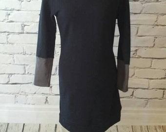 Black Cowl Neck Sweatshirt Dress