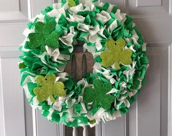 Shamrock Decor, Shamrock Wall Decor, Shamrock Wreath, Irish Door Decor, St Patricks Day Wreath, Irish Decor, St Patricks Day Decor, Irish