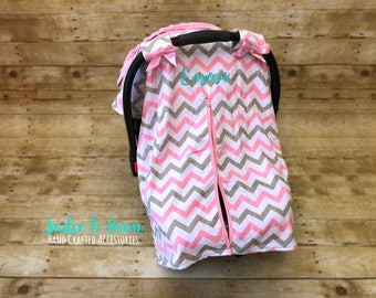 Carseat Canopy, Baby Car Seat Covers, Baby Gift, Baby Car Seat Canopy, Baby Shower Gift, Infant Car Seat Cover, Baby Carseat Cover, chevron