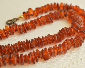Vintage Natural AMBER Necklace 20 Grams 46 cm, Old Baltic Amber Beads, Amber Jewelry
